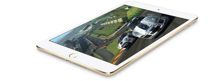iPad Mini 4 gets 64-bit A8 chip with M8 motion co-processor (Source: Apple)