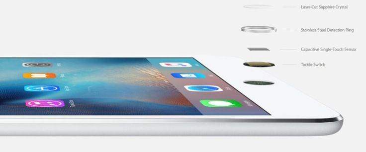 Apple iPad Mini 4 retains Touch ID from Mini 3 (Source: Apple)